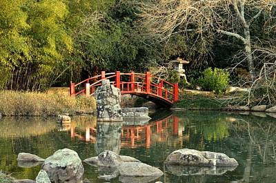 Photograph - Japanese Bridge Over Water by Maria Urso
