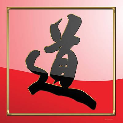 Digital Art - Japanese Calligraphy - Michi - Do - Way by Serge Averbukh