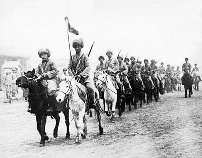 Northeastern Photograph - Japanese Calvary In Manchuria by Underwood Archives