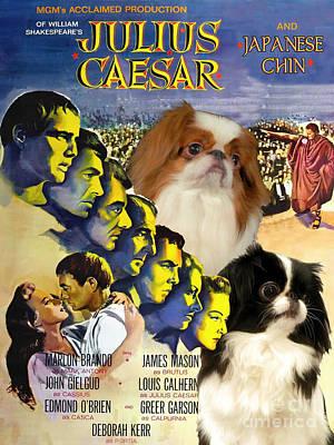 Painting - Japanese Chin Art - Julius Caesar Movie Poster by Sandra Sij