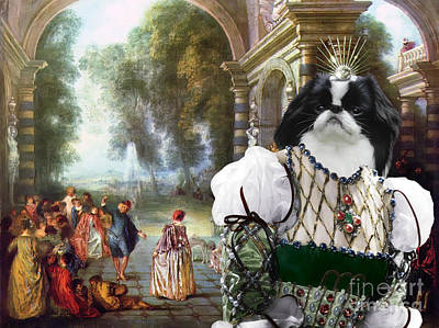 Painting - Japanese Chin Art Canvas Print by Sandra Sij