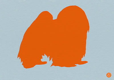 Japanese Chin Orange Art Print by Naxart Studio