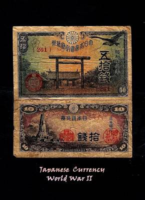 Japanese Currency From World War II Art Print