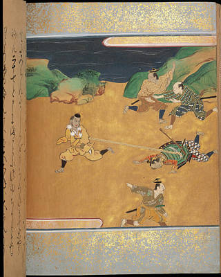 Clergy Photograph - Japanese Fight Scene by British Library