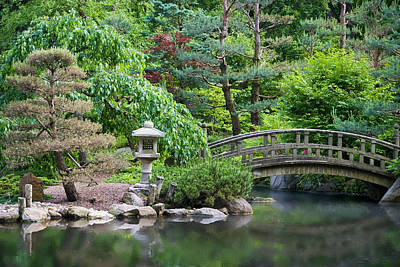 Forest Photograph - Japanese Garden by Adam Romanowicz