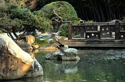 Photograph - Japanese Garden At Sundown by Maria Urso