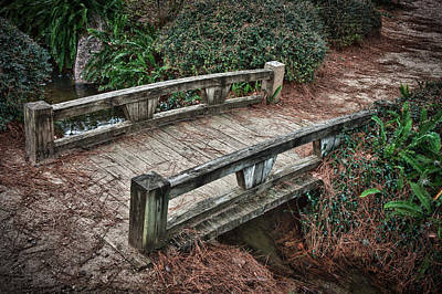 Photograph - Japanese Garden Bridge by James Woody
