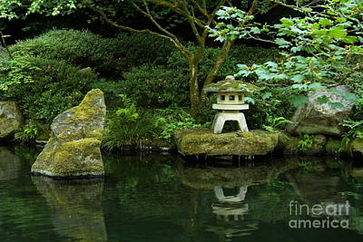 Japanese Garden Calmness Art Print by Christiane Schulze Art And Photography