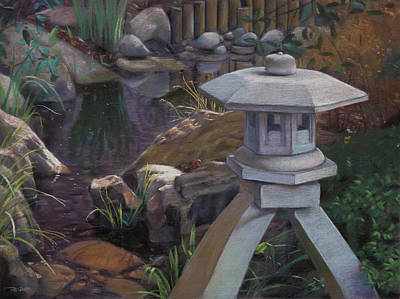 Pastel - Japanese Garden by Christopher Reid