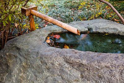Photograph - Japanese Garden Fountain by Ben Graham