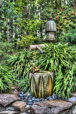 Photograph - Japanese Garden Fountain by Heidi Smith