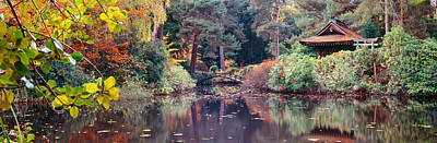 Japanese Garden In Autumn, Tatton Park Art Print by Panoramic Images