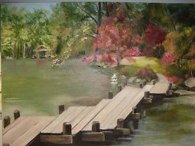 Painting - Japanese Garden Maymount by Janet Visser