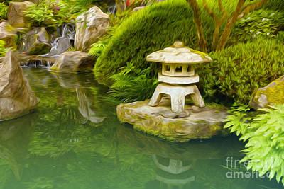 Japanese Garden Art Print by Nur Roy