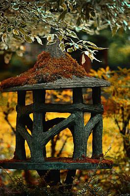 Lantern Digital Art - Japanese Garden Ornament by Maria Angelica Maira