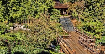 Photograph - Japanese Garden Walk by Peggy Hughes