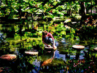 Photograph - Japanese Garden Wonders by Janet Maloy
