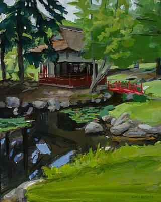 Japanese Tea Garden Painting - Japanese Gardens by Chris Breier
