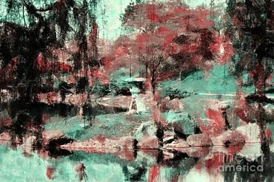 Japanese Garden's Print by Kathleen Struckle