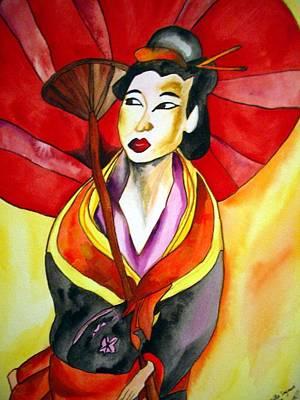 Japanese Geisha Art Print by Sacha Grossel