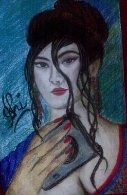 Syeda Ishrat Pastel - Japanese Girl by Syeda Ishrat