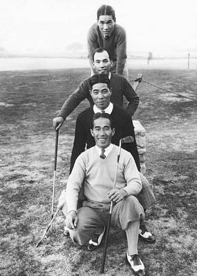 Photograph - Japanese Golfers In America by Underwood Archives