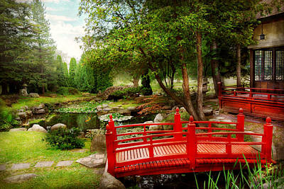 Japan House Photograph - Japanese - Harmony And Nature by Mike Savad