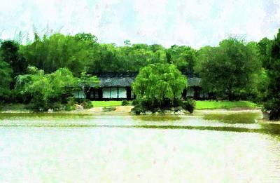 Mixed Media - Japanese Home At Morikami by Florene Welebny