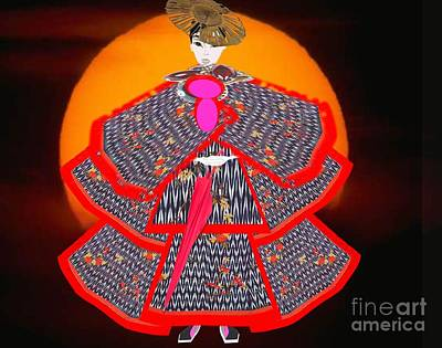 Painting - Japanese Kimono Fashion by Belinda Threeths