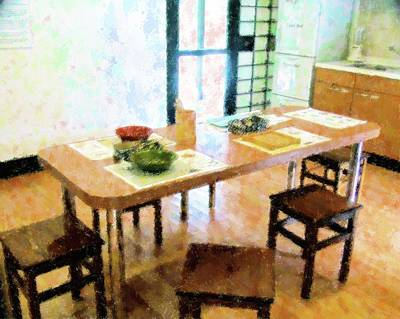 Mixed Media - Japanese Kitchen At Morikami by Florene Welebny
