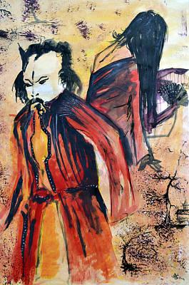 Painting - Japanese Lovers by Jakub DK