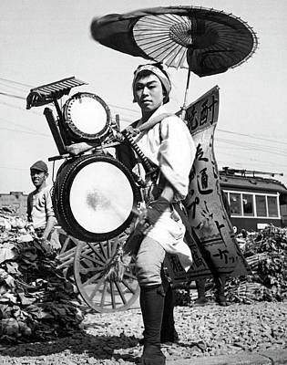 Photograph - Japanese One Man Band by Underwood Archives