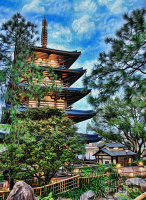 Photograph - Japanese Pagoda II by Lee Dos Santos