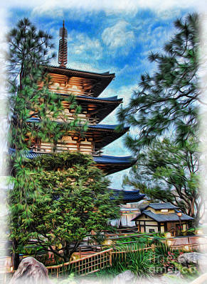 Photograph - Japanese Pagoda by Lee Dos Santos