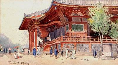 Japanese Pavilion And Courtyard Art Print by Roberto Prusso