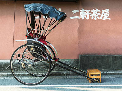 Photograph - Japanese Rickshaw In Kyoto by @ Didier Marti