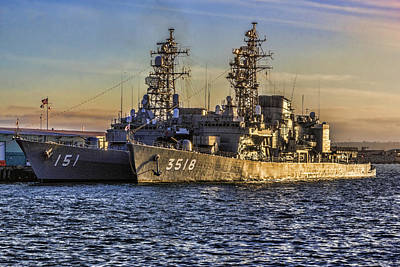 Digital Art - Japanese Ships In San Diego by Photographic Art by Russel Ray Photos