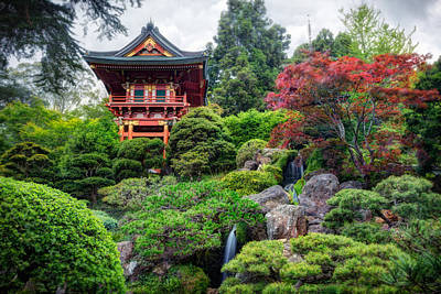 Red Photograph - Japanese Tea Garden - Golden Gate Park by Adam Romanowicz