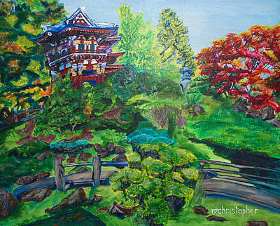 Japanese Tea Garden Painting - Japanese Tea Garden by Mark Smith