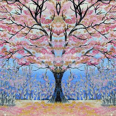 Cherry Blossoms Digital Art - Japanese Tree Of Life by Cathy Jacobs