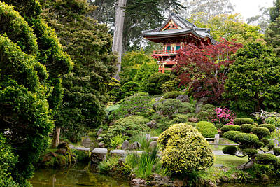 Japanese Village Gardens In San Francisco Print by Carol M Highsmith