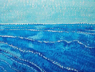 Japanese Waves Original Painting Original by Sol Luckman