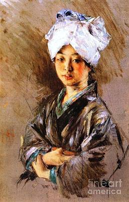 Painting - Japanese Woman by Pg Reproductions