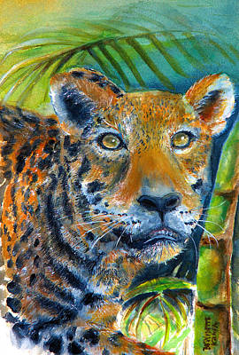Art Print featuring the painting Jaquar On The Prowl by Bernadette Krupa
