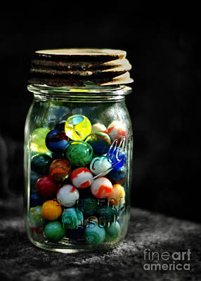 Jar Full Of Sunshine Art Print by Rebecca Sherman
