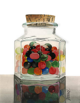 Painting - Jar Of Jelly Bellies by Ferrel Cordle