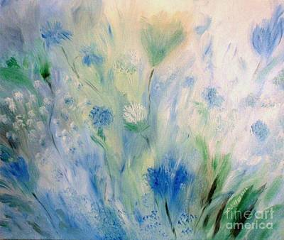 Painting - Jardin Bleu by Julie Brugh Riffey