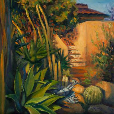 Spanish House Painting - Jardin De Cactus by Athena Mantle