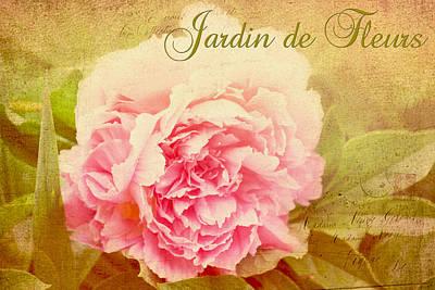 Digital Art - Jardin De Fleurs by Trina  Ansel