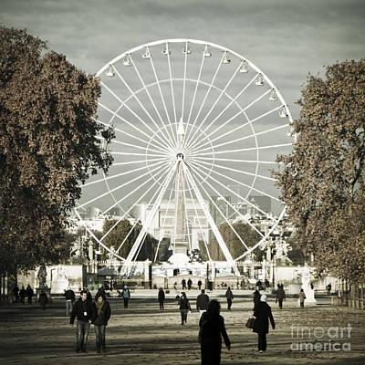 Jardin Des Tuileries Park Paris France Europe  Art Print by Jon Boyes